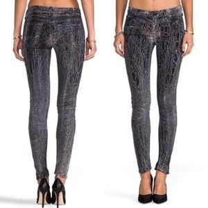 Mother the Looker Graphite Pattern Skinny Jeans